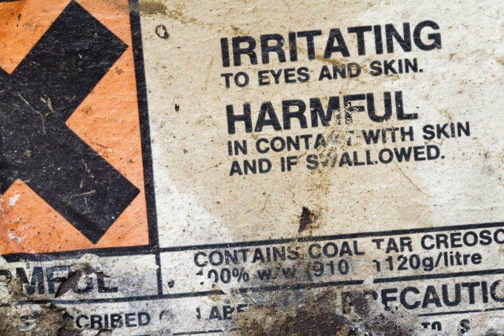 harmful chemicals corrosive poisoned