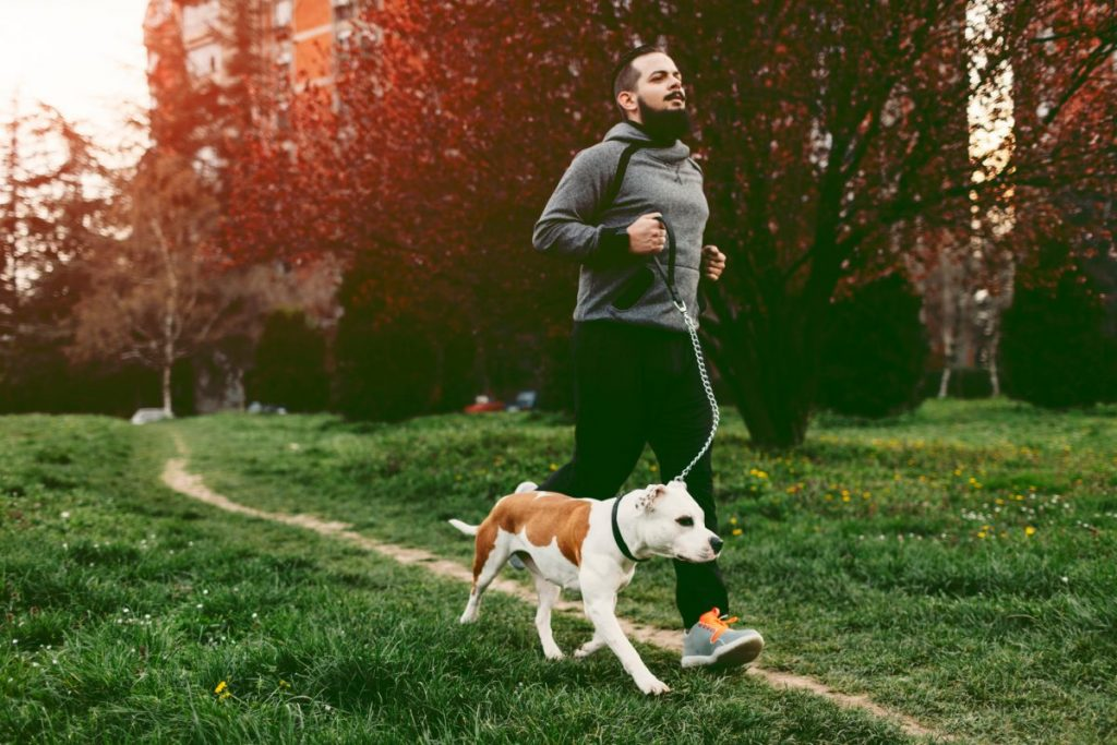 Man Jogging Dog