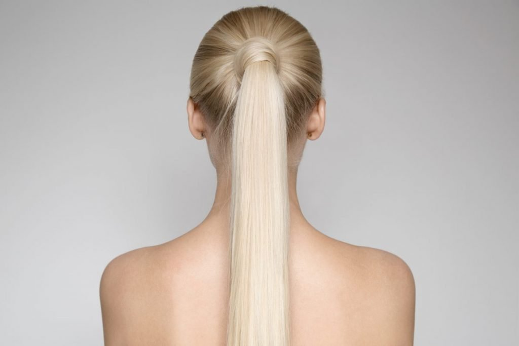 long hair pony tail