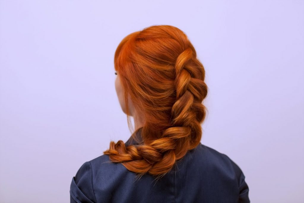 long hair Dutch braid