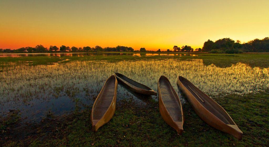 Sunrise over the Okavango Delta, Botswana
