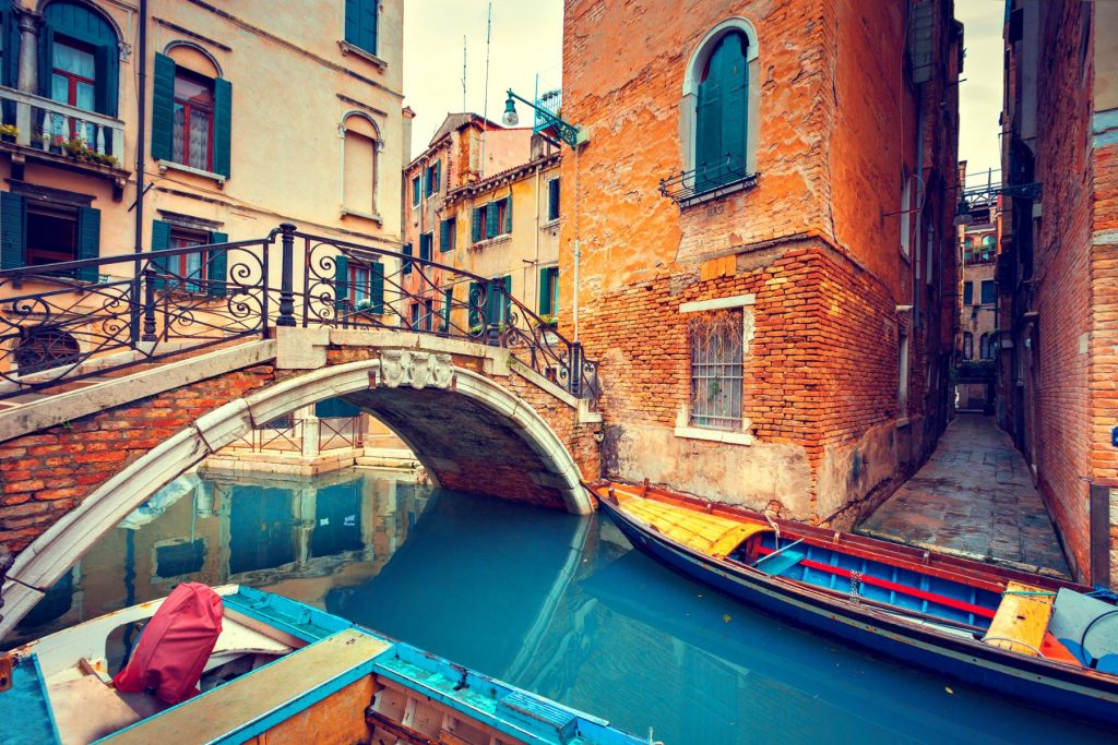 Bridge over a Venetian Canal.