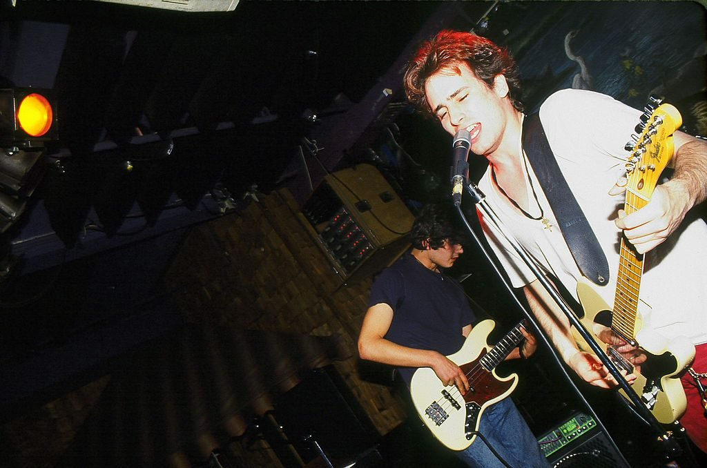 American musician Jeff Buckley (1966 - 1997) performs on stage at the Wetlands Preserve nightclub, August 16, 1994.