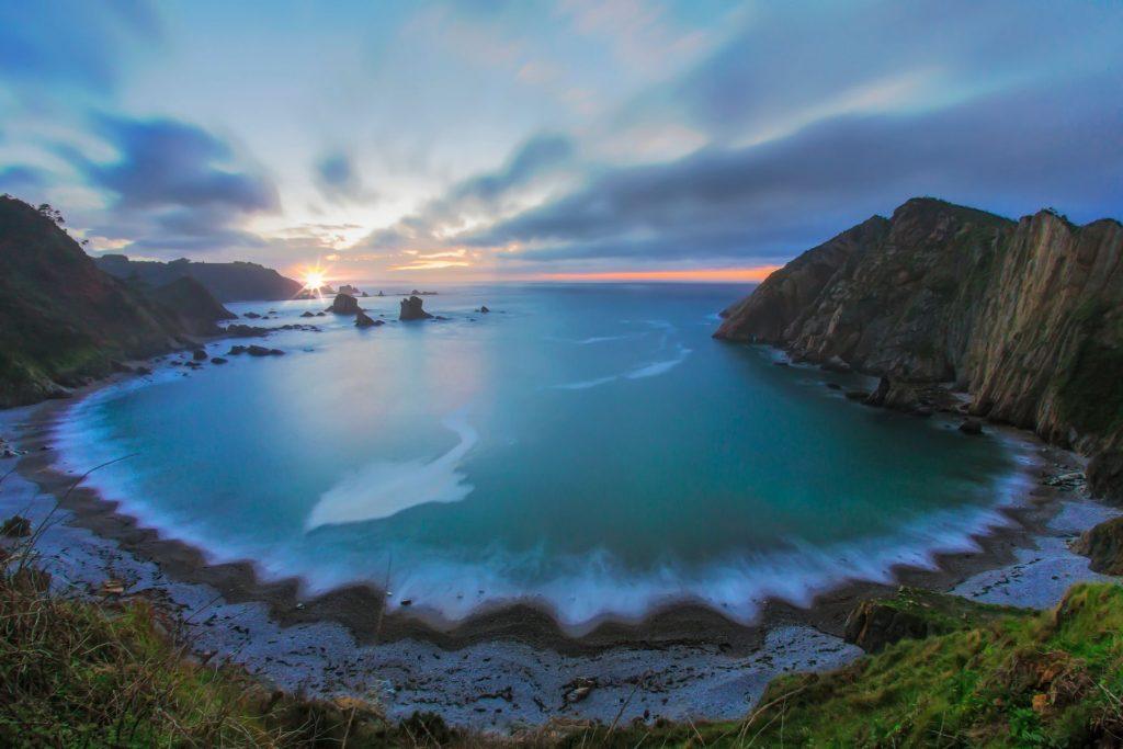 The cliffs of El Silencio Gavieira, Asturias