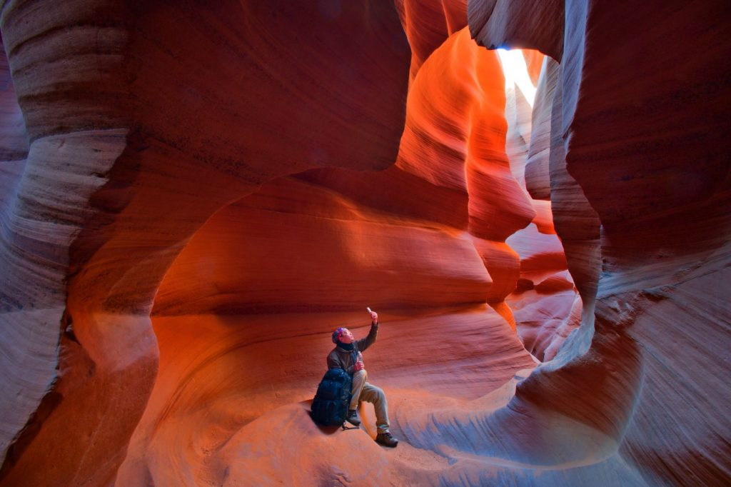 Man Travel Arizona Antelope Canyon