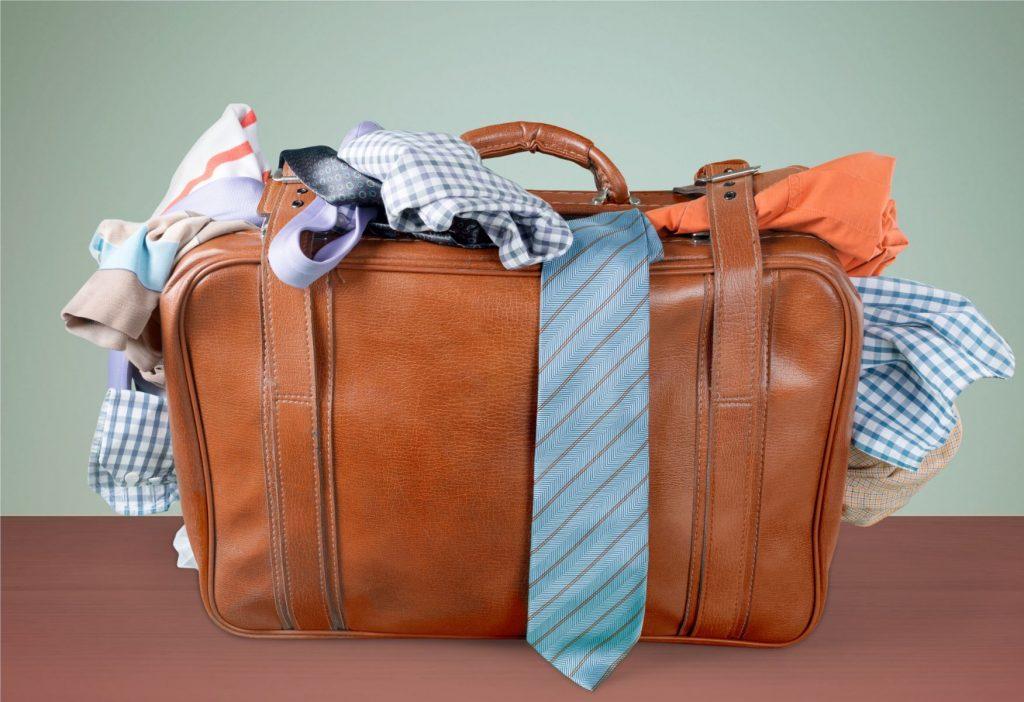 Suitcase Luggage Full Stuffed Travel Bag Clothing