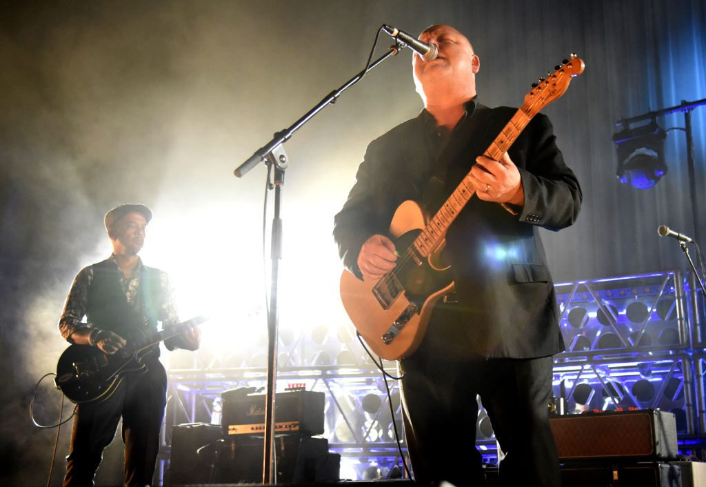 OAKLAND, CA - DECEMBER 07: Joey Santiago (L) and Black Francis of Pixies perform at the Fox Theater on December 7, 2017 in Oakland, California.