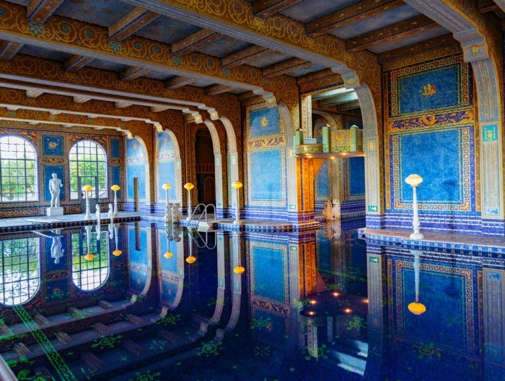 Hearst Castle construction was begun in 1919 by William Randolph Hearst and architect Julia Morgan