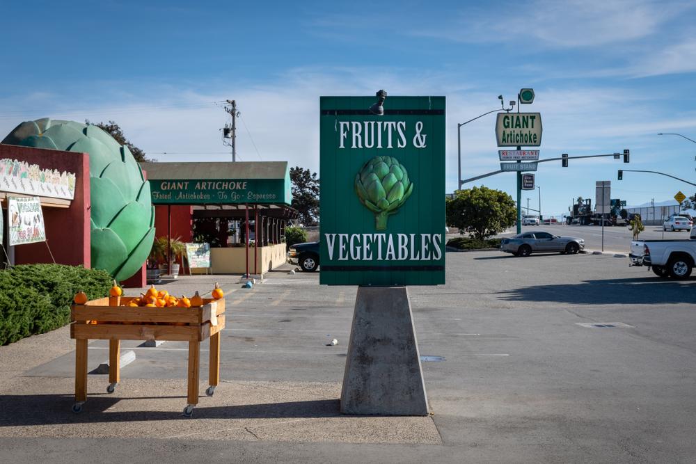Giant artichoke Fruit and vegetables sign