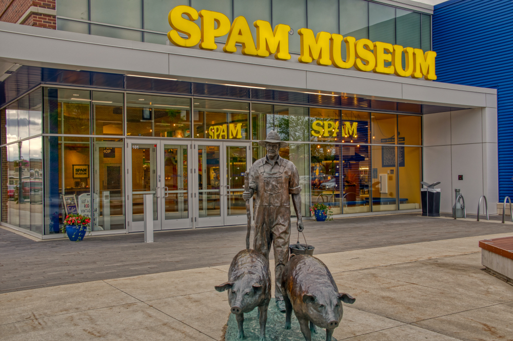 The Spam Museum is dedicated to the canned Meat Produc