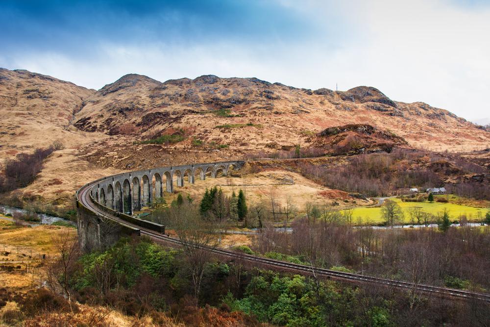 Glenfinnan Railway Viaduct on the West Highland Line in Glenfinnan, Scotland