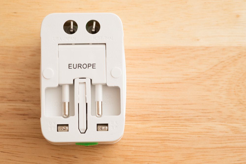 Power adapters for worldwide use
