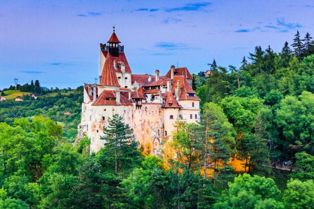 Brasov, Transylvania. Romania. The medieval Castle of Bran, known for the myth of Dracula