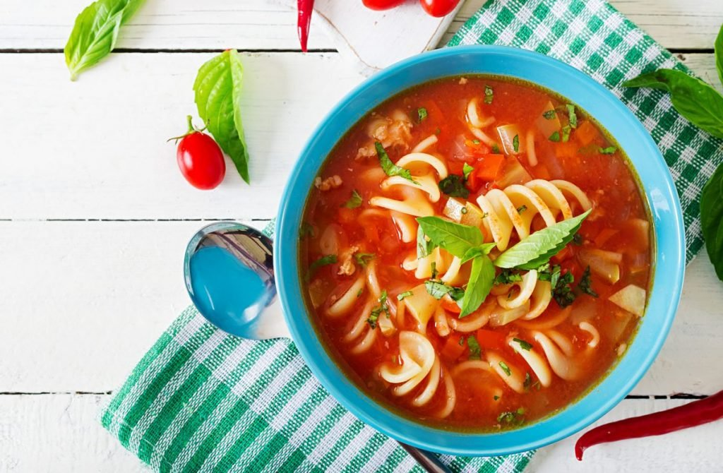 chickpeas minestrone soup