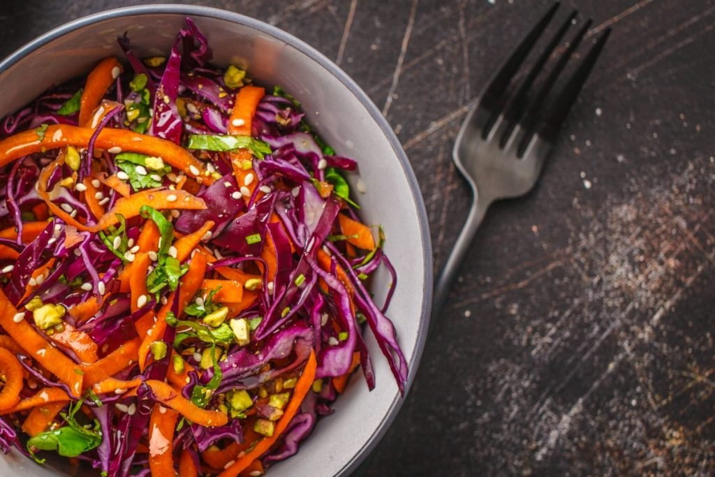 red cabbage beetroot colorful coleslaw