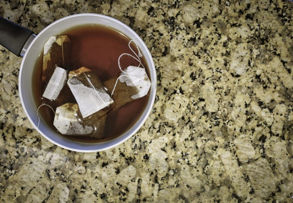 brewing black tea bags