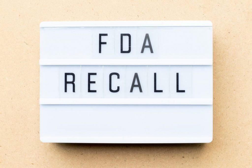 FDA recall sign