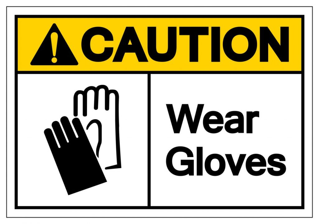 wear gloves symbol
