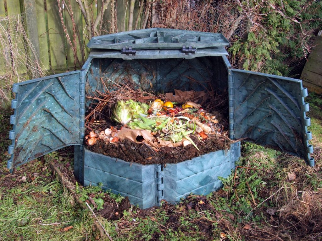 compost bin, site, space, drainage