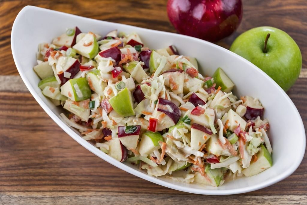 chicken apple fruit coleslaw