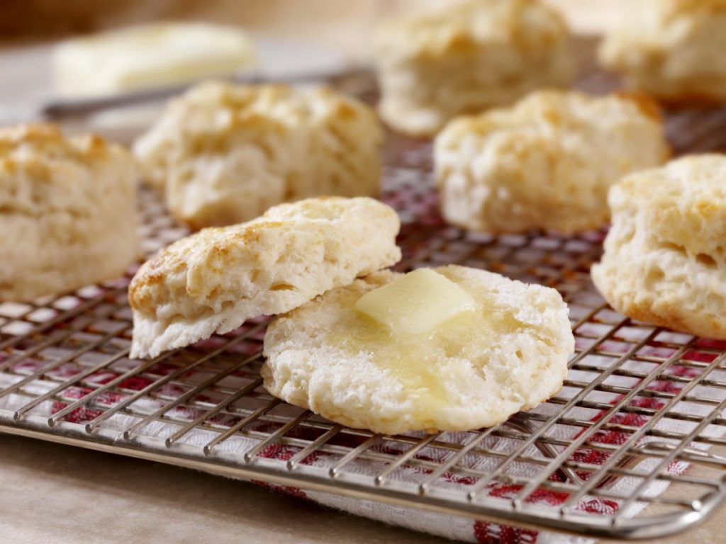 hot biscuits with butter