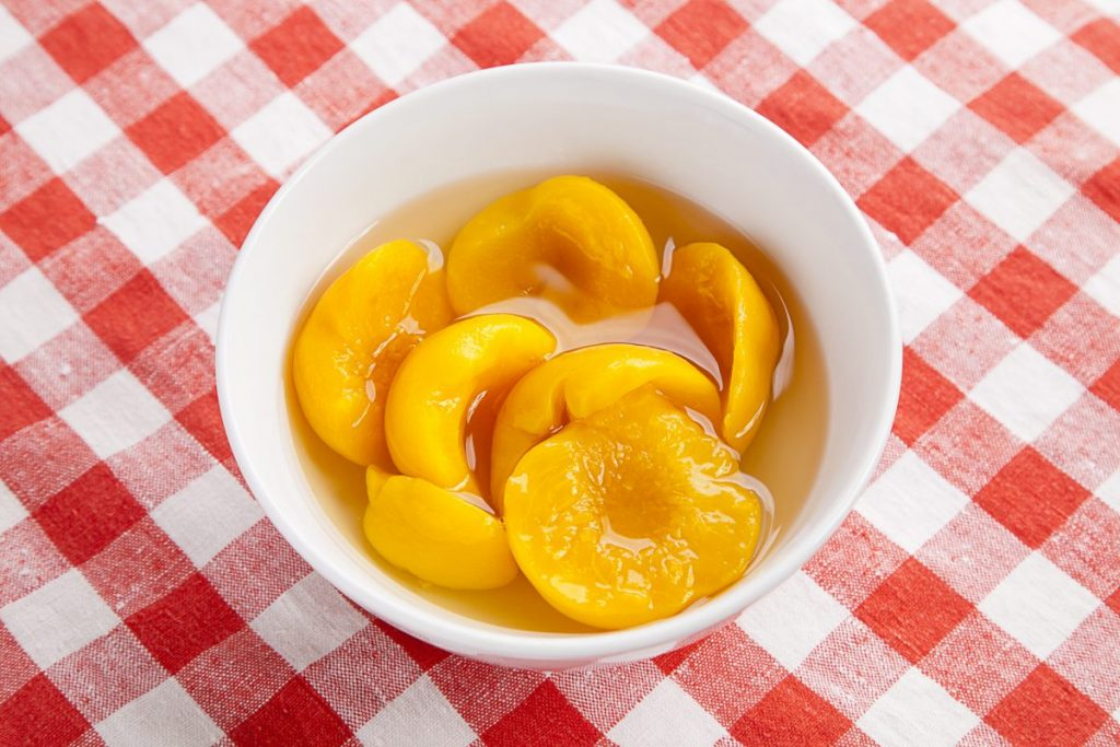 folate fresh frozen canned peaches