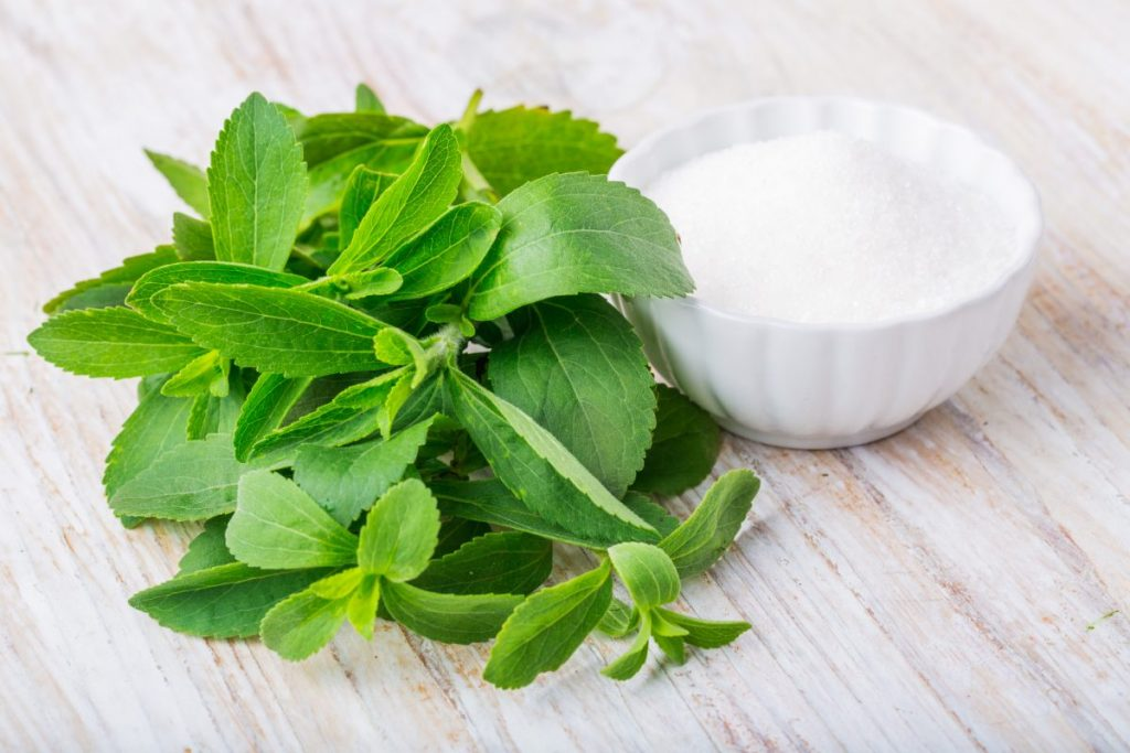 stevia leaves and extract powder