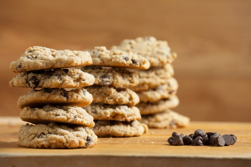 Air fryer chocolate chip oatmeal cookies