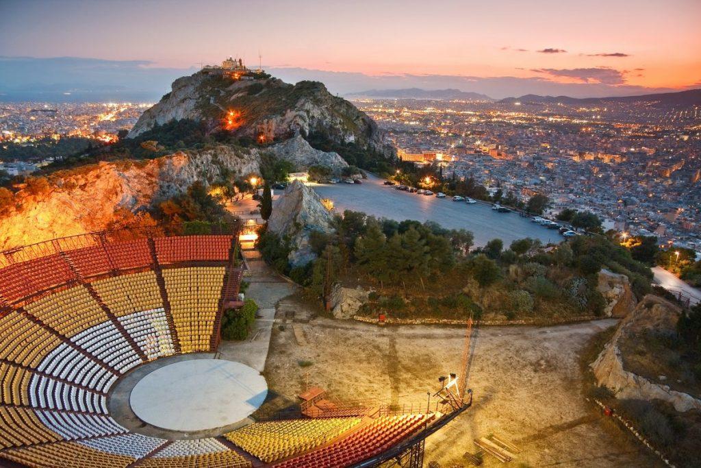 athens sunset lycabettus hill