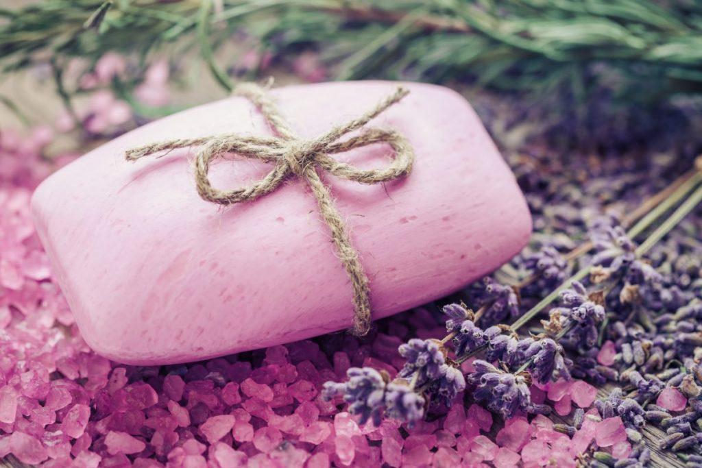 lavender soap bathing spa