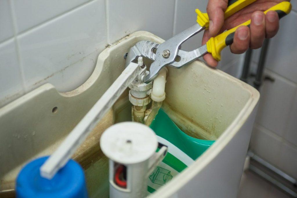 running toilet tank fix