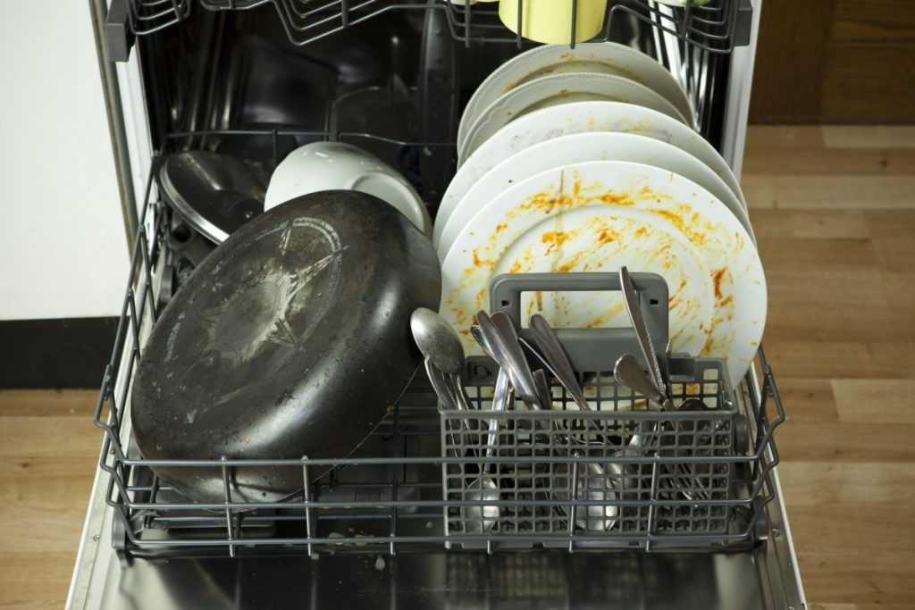 dirty dishes dishwasher loading