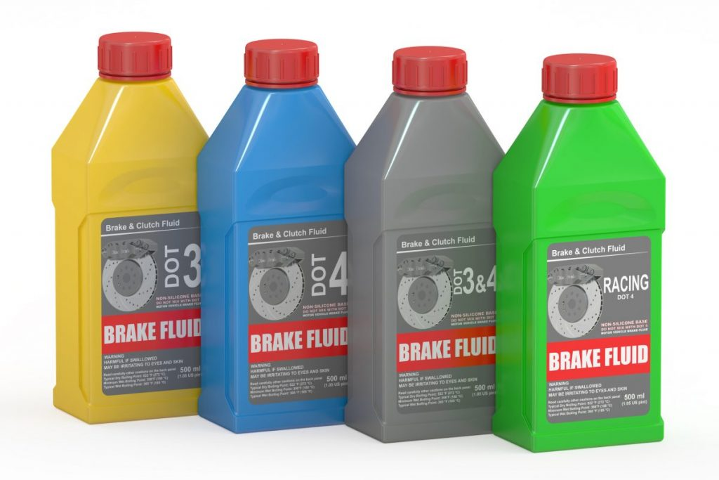 Hazardous-material fluid-disposal unused-brake-fluid