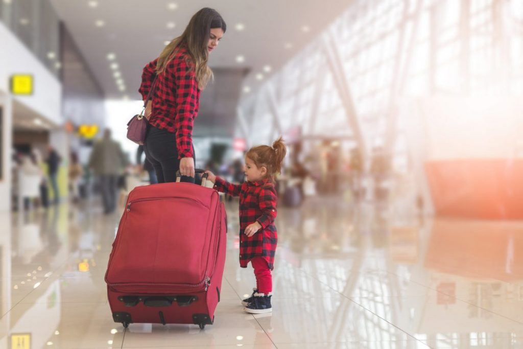 Traveling light with kids