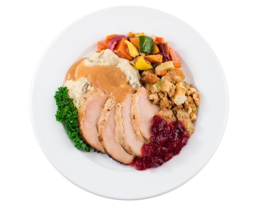 turkey thanksgiving meal plate