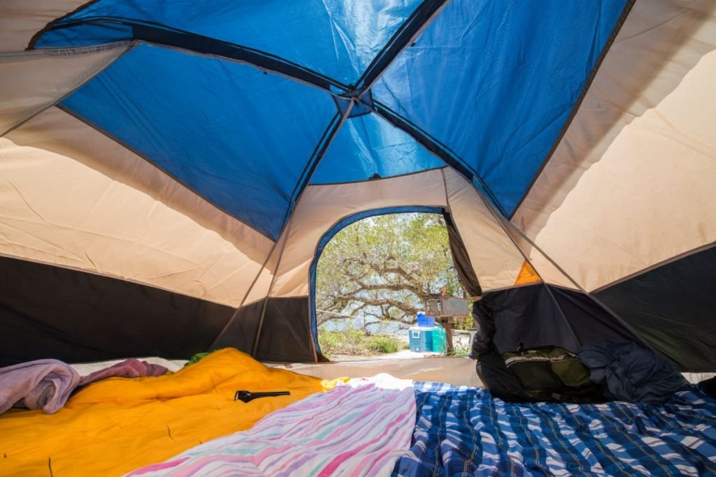 hot from a tent interior of a campsite on Garden Key in the Dry Tortugas National Park.