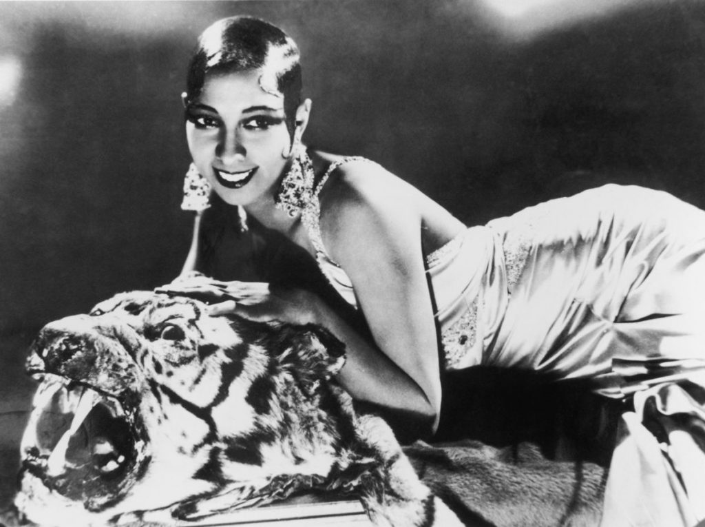 Portrait of American-born singer and dancer Josephine Baker
