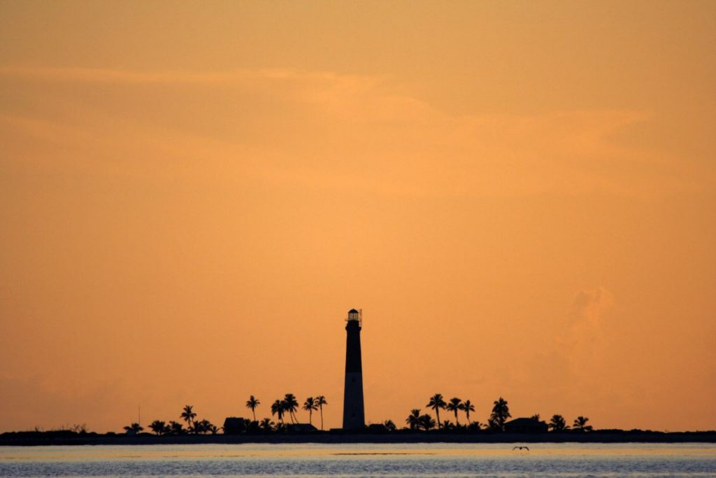 Loggerhead Lighthouse in Dry Tortugas National Park, Florida Keys