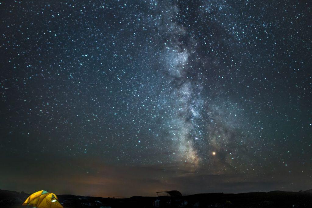 Milky Way above Sage Creek Campground in Badlands National Park, South Dakota