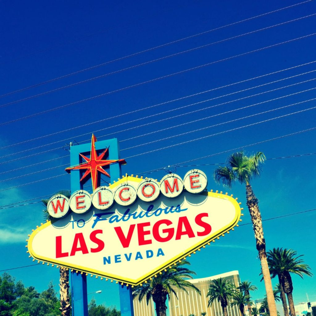 A view of Welcome to Fabulous Las Vegas sign in Las Vegas Strip