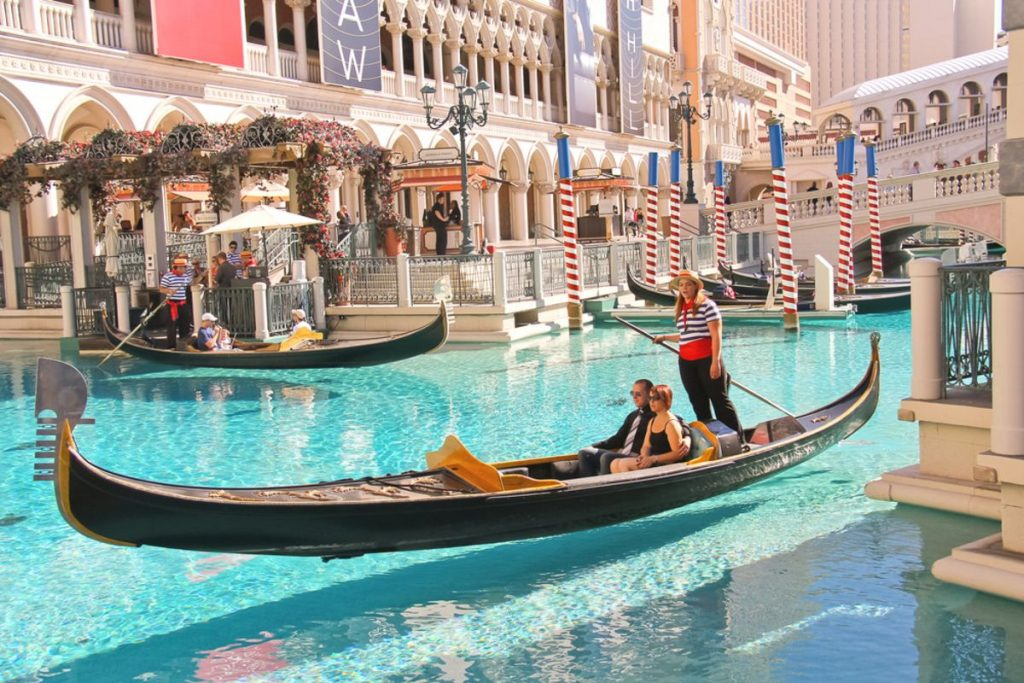 Gondola rides in Venetian Hotel on October 20, 2013 in Las Vegas
