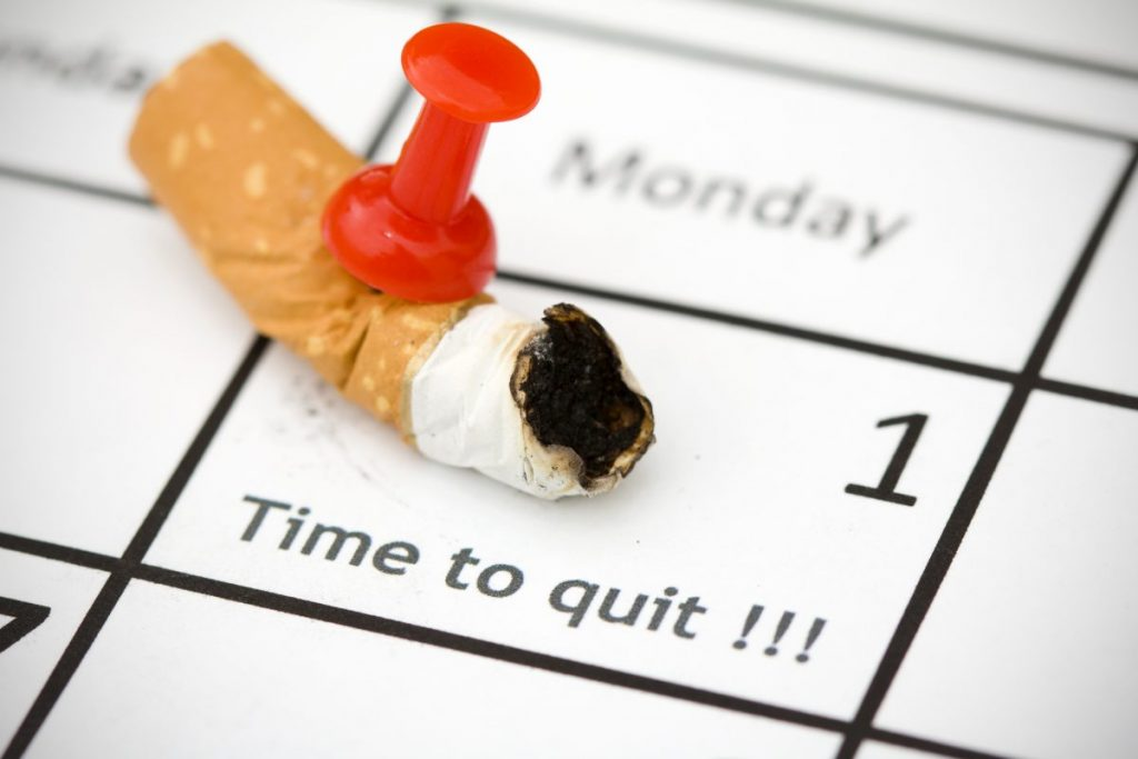 calendar cigarette butt quit smoking