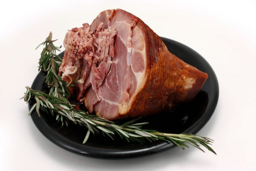 ham glazed fresh rosemary
