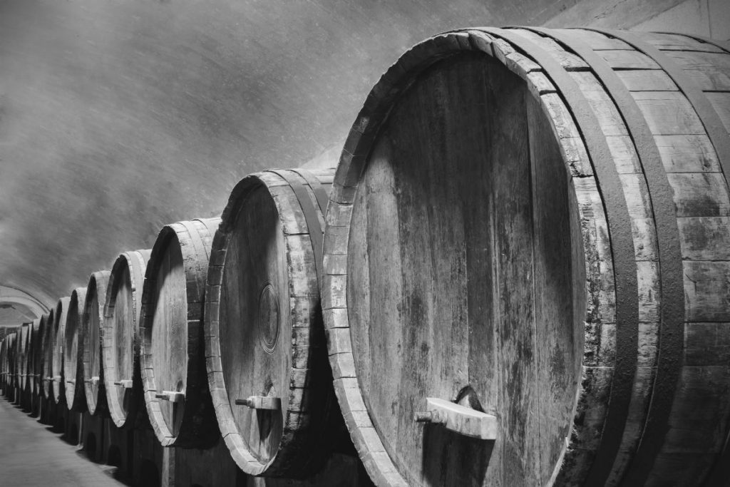 Sicilian Marsala Wine in Barrels