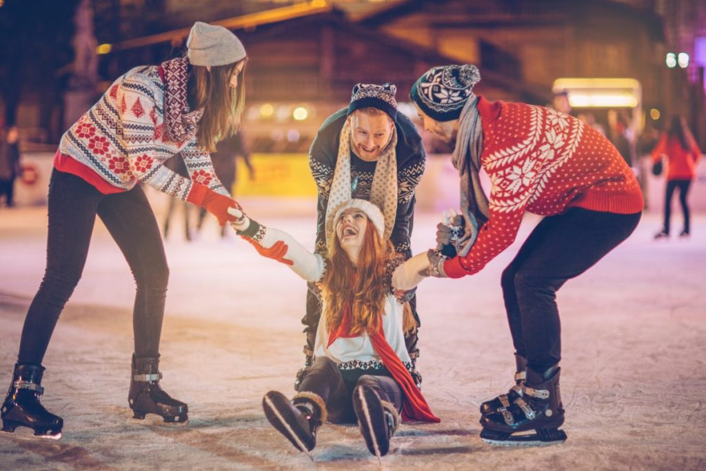 ice skating fun friends family
