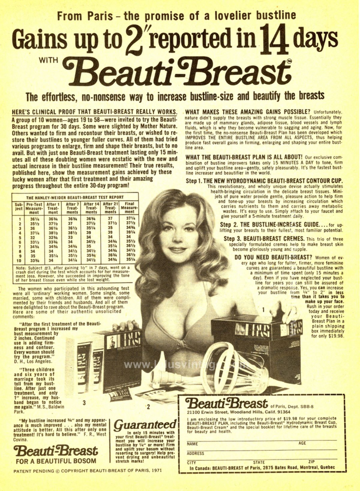 Breasts augmentation ad