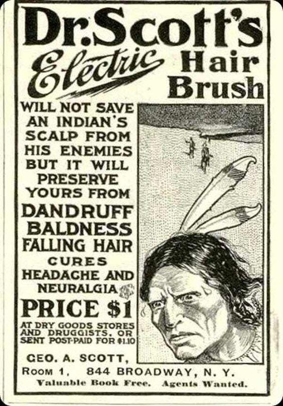 Dandruff vintage ad