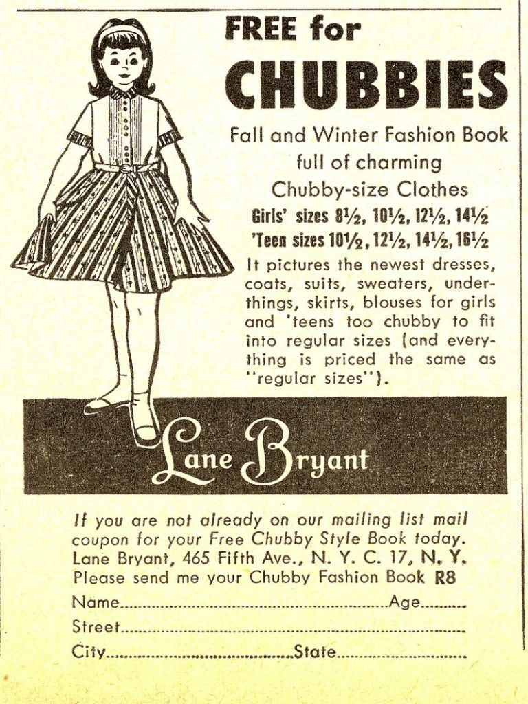 Vintage clothing ad