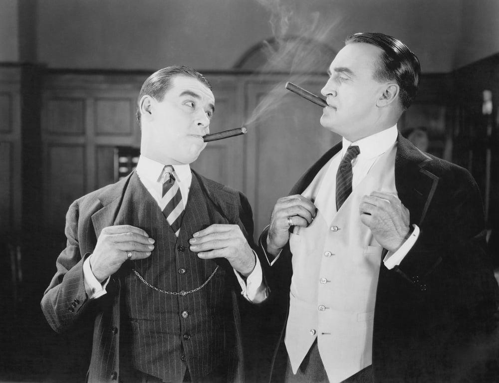 Narcissistic men smoking