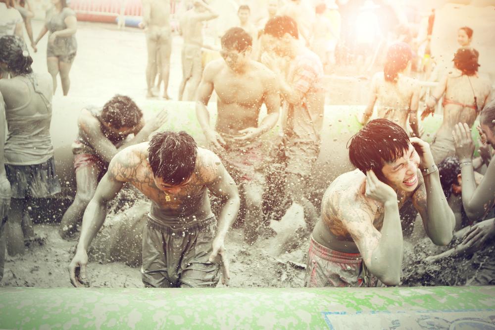Boryeong Mud Festival at Daecheon beach, South Korea